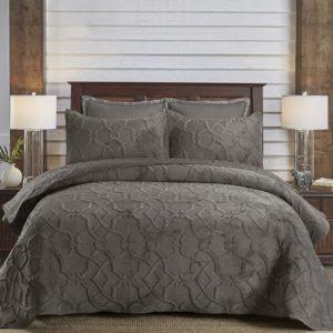 غطاء سرير مجوز قطيفة