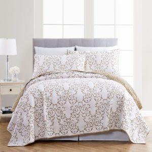 غطاء سرير قطن 100% مطرز