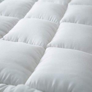 لباد سرير قطن 100% , مقاس مفرد ونص