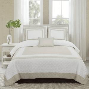 hotel-tan-غطاء-سرير-قطن-100-مزدوج-4-قطع