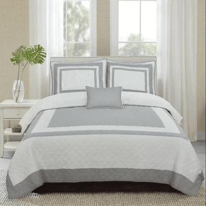 hotel-grey-غطاء-سرير-قطن-100-مزدوج-4-قطع