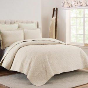waverly-cutout-ivory-غطاء-سرير-قطن100-مزدوج-3-قطع
